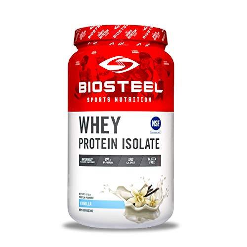 Biosteel Biosteel Whey Protein Isolate - Alimentado con Pasto - sin Stevia - sin Ogm - sin Gluten - sin Soja - sin Antibióticos Ni Hormonas - Vainilla - 816G 860 g