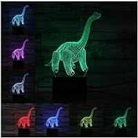 3Dイリュージョンナイトライト 動物の恐竜 スマートタッチ 子供のための3Dランプ照明7LED色変更タッチテーブルデスクランプクールなおもちゃギフト誕生日目の錯覚ランプクリスマスの装飾