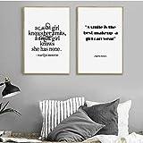 Una Sonrisa es el Mejor Maquillaje Marilyn Monroe Wall Art Canvas Print y póster para la decoración de la Pared de la habitación de la niña/Sin Marco / 50 * 70cm