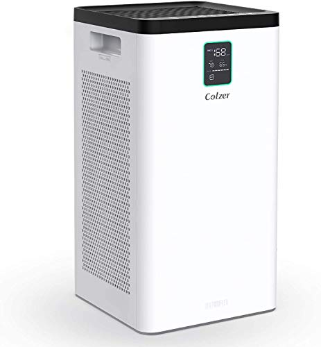 COLZER 3000 Sq Ft Air Purifier for Home Large Room with Dual H13 True Hepa Filter Quickly Purify Air to Fresh, Remove Dust Bad Smells 29db Super Quiet Sleep Mode for Home Bedroom