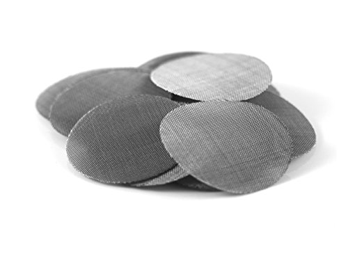 """Made in The USA 5 1.25"""" (1 1/4"""") Steel Pipe Screen Filters (Extra Fine Mesh) Up in Smoke Brand"""