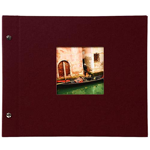 goldbuch 26892 Schraubalbum mit Fensterausschnitt, Bella Vista, 30 x 25 cm, Fotoalbum mit 40 weiße...