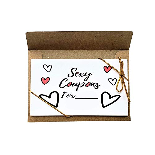 Love Coupons, Valentines Coupon book, Scratch off DIY Coupon Gifts for Him, Her, Boyfriend, Girlfriend or Couples