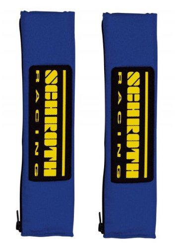 Schroth 1119 Gurtpolster Racing, 50 mm, Blau/Gelb