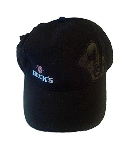 Gorra de béisbol con visera con logotipo de la cerveza Beck's