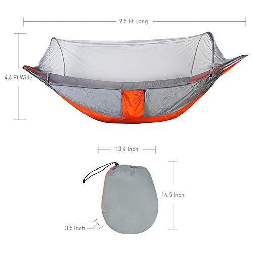 LYYN Cama de Viaje portátil para Camping con Hamaca para Exterior con mosquitero y Columpio