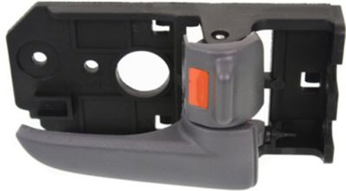 OE Replacement Front or Rear Passenger Side Gray Interior Door Handle with Door Lock Button for Kia - REPK462343