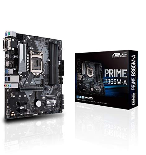 ASUS Prime B365M-A Scheda Madre Intel B365 mATX con Connettore Aura Sync RGB, DDR4 2666 MHz, Supporto M.2, HDMI, Intel Optane Memory Ready, SATA 6 Gbps