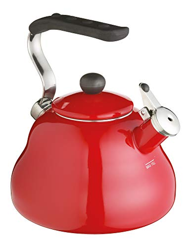 Kitchen Craft KCEKETRED Le'Xpress Pfeifkessel, 2 l, Rot