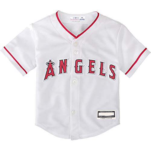 Outerstuff MLB Newborn Infants Toddler Blank Cool Base Home Team Jersey (18 Months, Los Angeles Angels Home White)