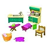Li'L Woodzeez 6125Z Angolo Cottura e Pulizia della casa, Set da 21 Pezzi con mobili da Cucina e Accessori, Giocattoli in Miniatura e Set da Gioco per Bambini dai 3 Anni in su.