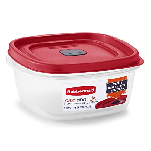 Rubbermaid Easy Find Lids 5-Cup Food Storage and Organization Container Racer Red