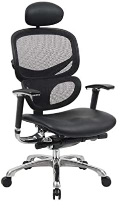 Boss B6777-BK-HR Multi-Function Mesh Chair with Head Rest
