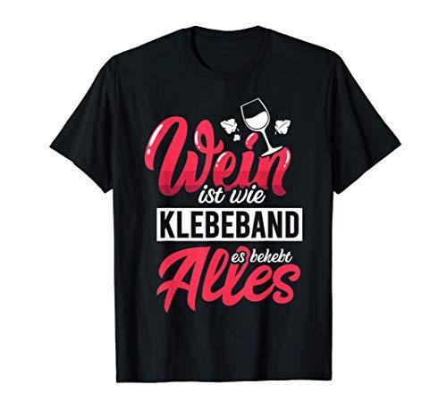 Wein und Vino   Weinliebhaber Geschenk   Witziger Spruch T-Shirt