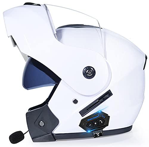 Cascos Modulares Con Bluetooth Para Motocicleta, Casco Abatible Frontal Con Bluetooth, Para Motocicleta, Con Doble Visera, Antivaho, Aprobado Por ECE, Cascos De Protección Para Adultos D2,L