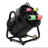 Automático Máquina de Confeti Papel de Color Fluorescente 1100W Lanzador de Confeti Profesional Máquina de Confeti Eléctrica Suministros de Escenario para Bodas Black Ajustable (Size : Large)