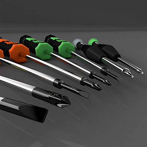 Screwdriver Set, 12 Pcs Small Screwdriver Set with Flathead Phillips Pentalobe Screwdriver In Different Sizes for iPhone PC Laptop Eyeglass Jewelry Watch
