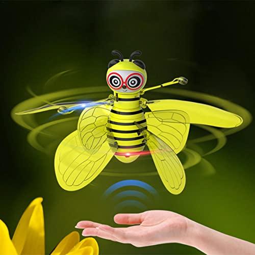 ampusanal Ritmreaty Bee Drone Piccoli Giocattoli per Bambini sospettati di gesti sospesi Giocattoli Bambola di Simulazione Giallo 7,17 x 5,8 x 2,8 Pollici Sensible