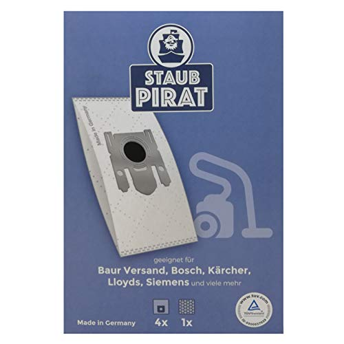 Staub Piraat stofzuigerzakken, duurzaam hoog zuigvermogen, 2-pack, 8 zakken, voor de volgende modellen Bor verzending, Bosch, Kärcher, Llloyd, Siemens enz.