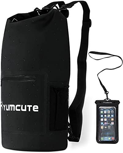 yumcute Dry Bag 20L Wasserdichter Beutel Und Unterwasser Handytasche 100% wasserdicht Lang Schulter Verstellbarer Schultergurt für Schwimmen Bootfahren Kajak Wassensport...