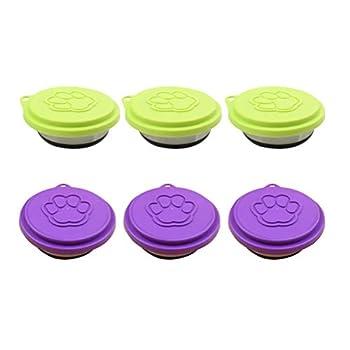 Couvercles Silicone de Conserve Lot de 6 couvercles en Silicone universelle Coque pour canette de Chien et Chat Réutilisables Couleur aléatoire