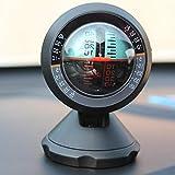 XRYG InclinóMetro Coche,Brújula De Automóvil Medidor De Inclinación Para Vehículos Todo Terreno Al Aire Libre Ángulo De Inclinación Indicador De Medidor De Nivel Balanceador De Gradiente Marino-Negro