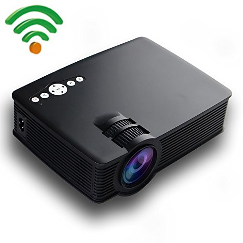 Mini Android Projector, Gzunelic 2600 lumens Portable LED LCD Video Projector...