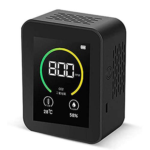 MISS YOU Carbon Dioxide Detector CO2-Detektor, Gaskonzentrationsgehalt Farbbildschirm TFT Intelligent Air Tester Luftqualitätsanalysator mit Temperaturfeuchtigkeitsanzeige 400-5000PPM-Messbereich