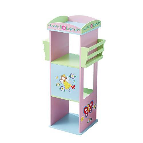 WODENY Kinderregal drehbar | Kinder Bücherregal Holz | Bücherregal | Bücherregale für Kinder Display Regal Schrank Organizer Portable (Rosa)