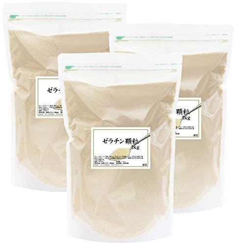自然健康社 国産ゼラチン顆粒 1kg×3個 チャック付き袋入り