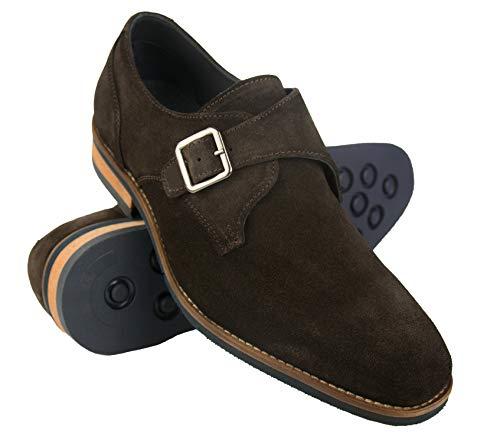 Zapatos de Piel para Hombre  Zapatos de Vestir Hombre   Zapatos Hombre Vestir Piel   Zapatos Hombres Traje  Monk Hombre   Zapatos Hebilla Hombre