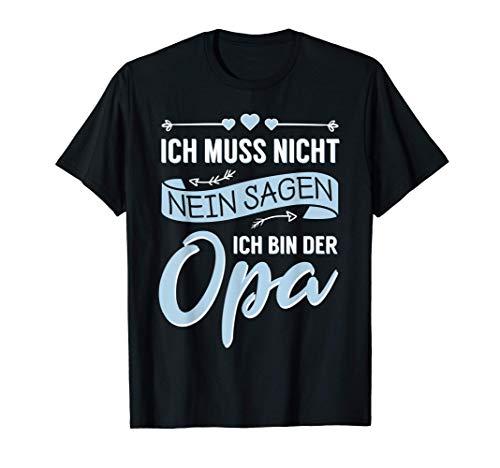 Herren Opa Grossvater Vatertag Geburtstag Lustiger Spruch Geschenk T-Shirt