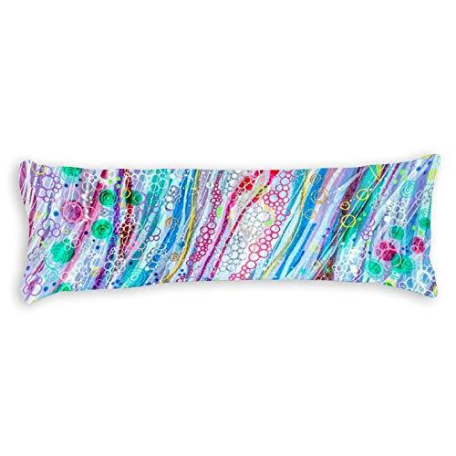 Promini Watercolor Bubble Crazy Body Pillow Cover Pillowcases Cushion with Hidden Zipper Closure for Sofa Bench Bed Home Decor 20'x54'