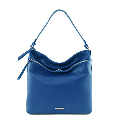 Tuscany Leather TLBag Borsa a spalla in pelle morbida Blu
