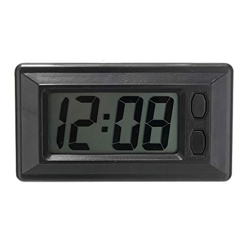 F-blue Ultra-dünne LCD-Digital-Display-Träger-Auto-Armaturenbrett-Zeit-Kalender anzeigen Klebepad Uhr