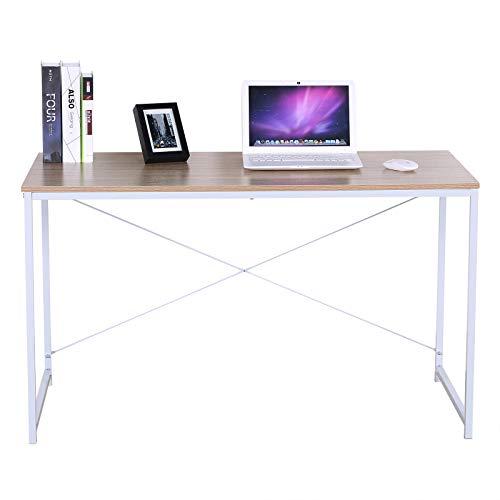 eSituro SCD0036 Schreibtisch Couchtisch Esstisch Bürotisch Arbeitstisch Holz Stahl Hell Eiche