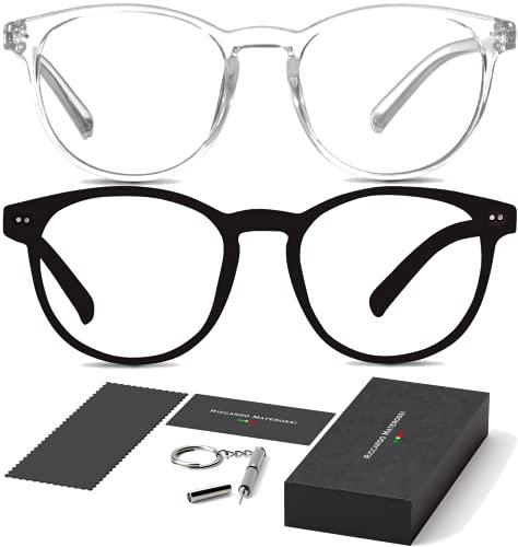 Riccardo Materossi - Premium Blaulichtfilter Brille, Bildschirmarbeitsbrille - Verringert Kopfschmerzen und verbessert den Schlaf