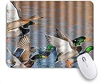 マウスパッド Mouse Pad Fashion Beauty Mallard Ducks Lake Mousepad Non-Slip Rubber Base for Computers Laptop