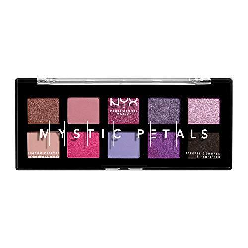 Nyx Professional Makeup Paleta de sombras mystic petals shadow palette en tono midnight orquid Midnight orchid