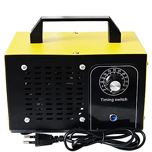 ATWFS Generador de Ozono Profesional, 48000mg/h 60000 MG/h Maquina ozono con Temporizador para Hogar, Garajes, Granjas, Hoteles y Mascotas, Purificador de Aire (60000mg/h, Amarillo) ⭐