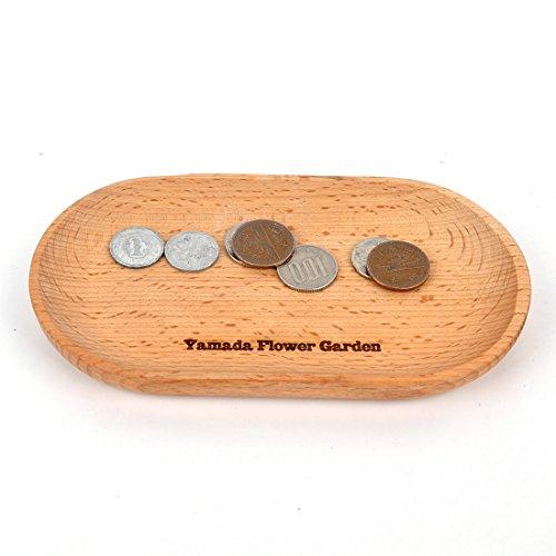 名入れ無料 木製キャッシュトレイ (楕円, ナチュラルウッド)