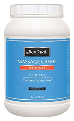 Bon Vital' Original Massage Cr?me for a Versatile Massage Foundation to Relax Sore Muscles & Repair Dry Skin, Revitalize Skin and Lock in Moisture, Allows for Muscle Manipulation