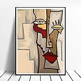 CNHNWJ Pablo Picasso Poster Varios tamaños hogar Pared Arte impresión Picasso Pinturas Lienzo Decoracion Sala de Estar Pasillo Pared Decoracion cubismo Abstracto Imagen