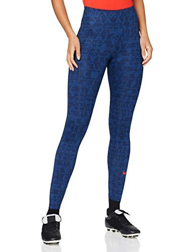 Nike ATM W NK ONE TGHT, Pantaloni Sportivi Donna, coastal blue/(sport red) (no sponsor), S