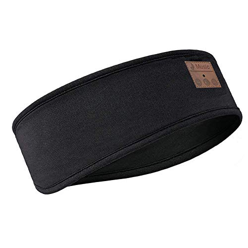 POHOVE Auriculares Bluetooth diadema inalámbricos para el sueño deportivo auriculares diadema suave lavable 3 en 1 diadema para dormir auriculares para correr yoga Bluetooth 5.0 integrado altavoz