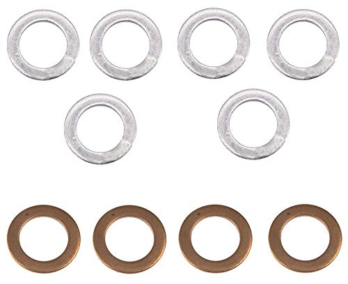 BOLT Motorcycle Hardware (DPWM12.20-10) M12 x 20mm Drain Plug Washer, (Pack of 10), METAL