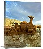 Global Gallery Taburete Caprocks, Grand Staircase, Escalante National Monument, Utah-Canvas Art 18'x24'
