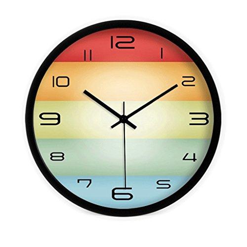 Reloj de pared decorativo Reloj de pared redondo silencioso del color de...