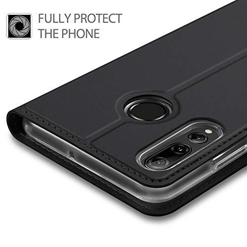 GEEMAI für Huawei P Smart Plus 2019 Hülle, für Honor 20 Lite Hülle, handyhüllen Flip Hülle Wallet Stylish mit Standfunktion und Magnetisch PU Schutzhülle passt für Huawei P Smart+ 2019 Phone,Schwarz - 3