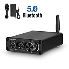 Bluetooth 5.0 can ensure more stable and faster wireless transmission with less losses. It can turn your normal passive speakers to Bluetooth speakers. Besides BT 5.0, this device also support standard 3.5mm AUX input. This amp can be connected with ...